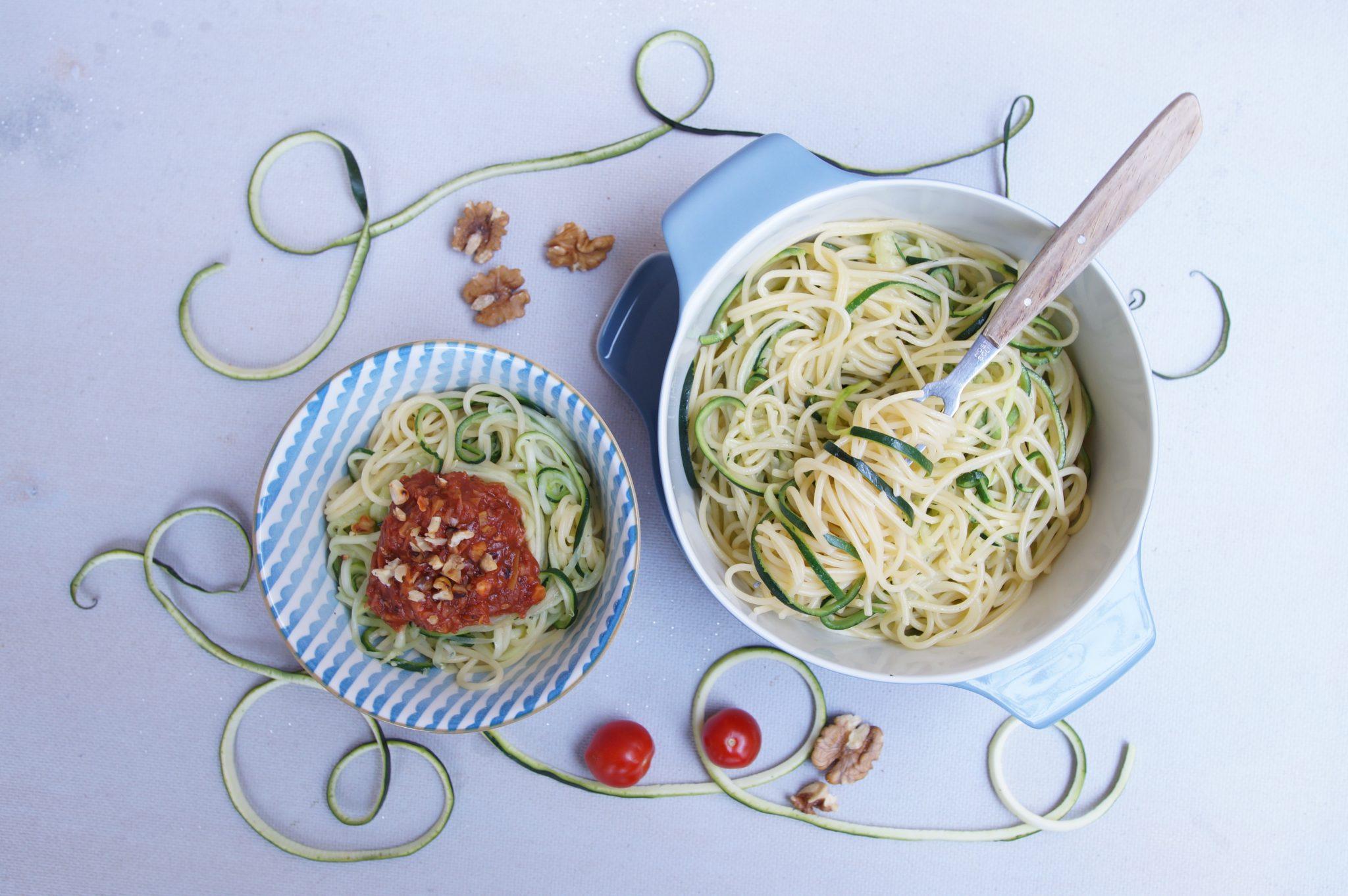 Zucchini-Spaghetti, Zoodles, Gesund kochen