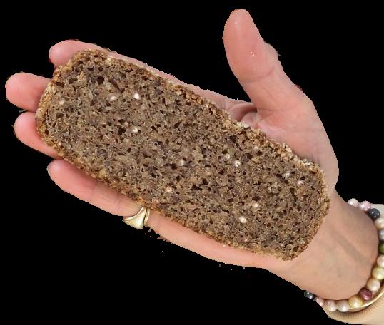 Eine normale Portion Brot beträgt ca. 1 Handfläche