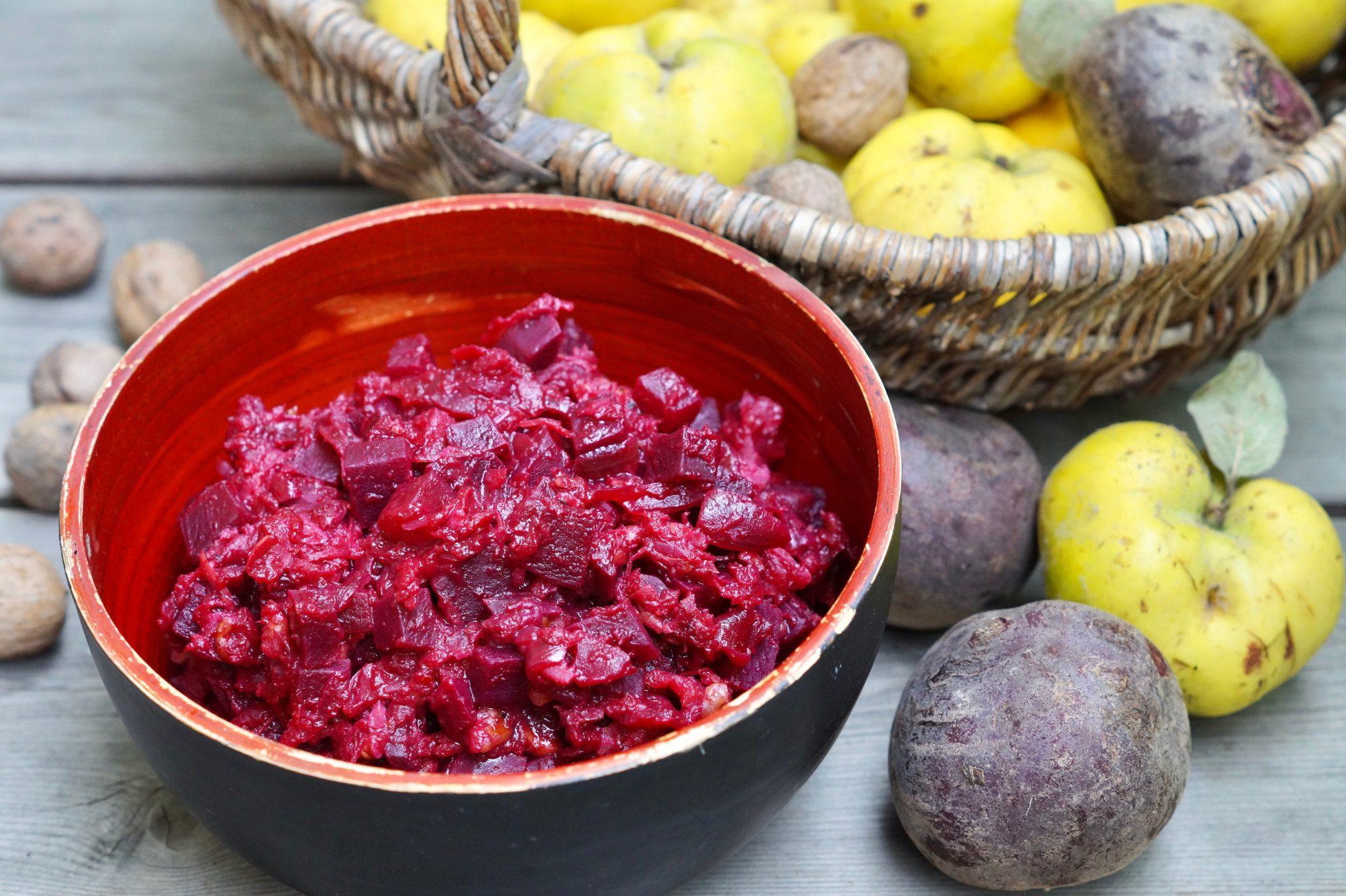 Quitten-Gemüse mit Roter Bete