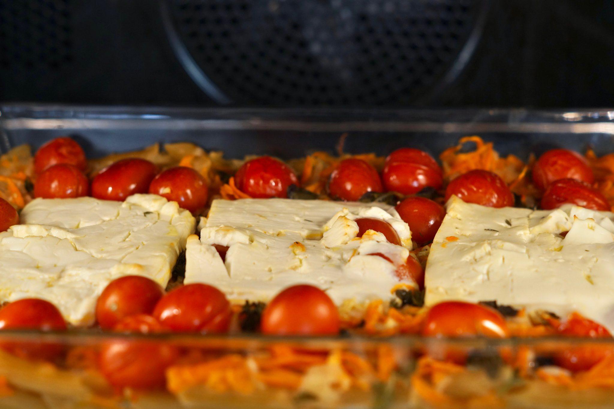 Baked Feta im Ofen - Nahaufnahme