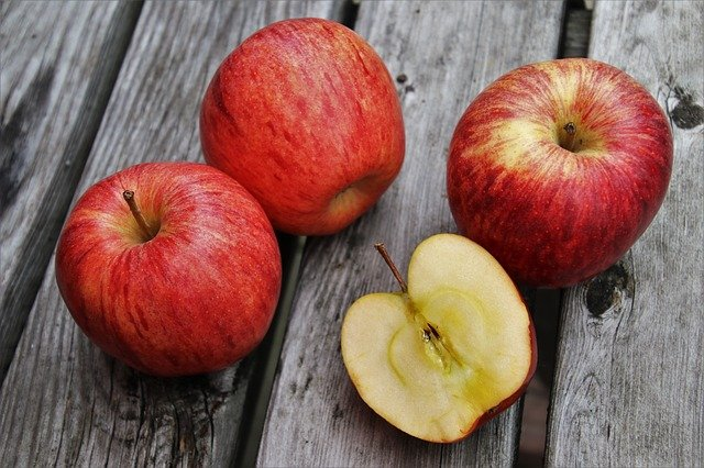 Apfel rot Obst