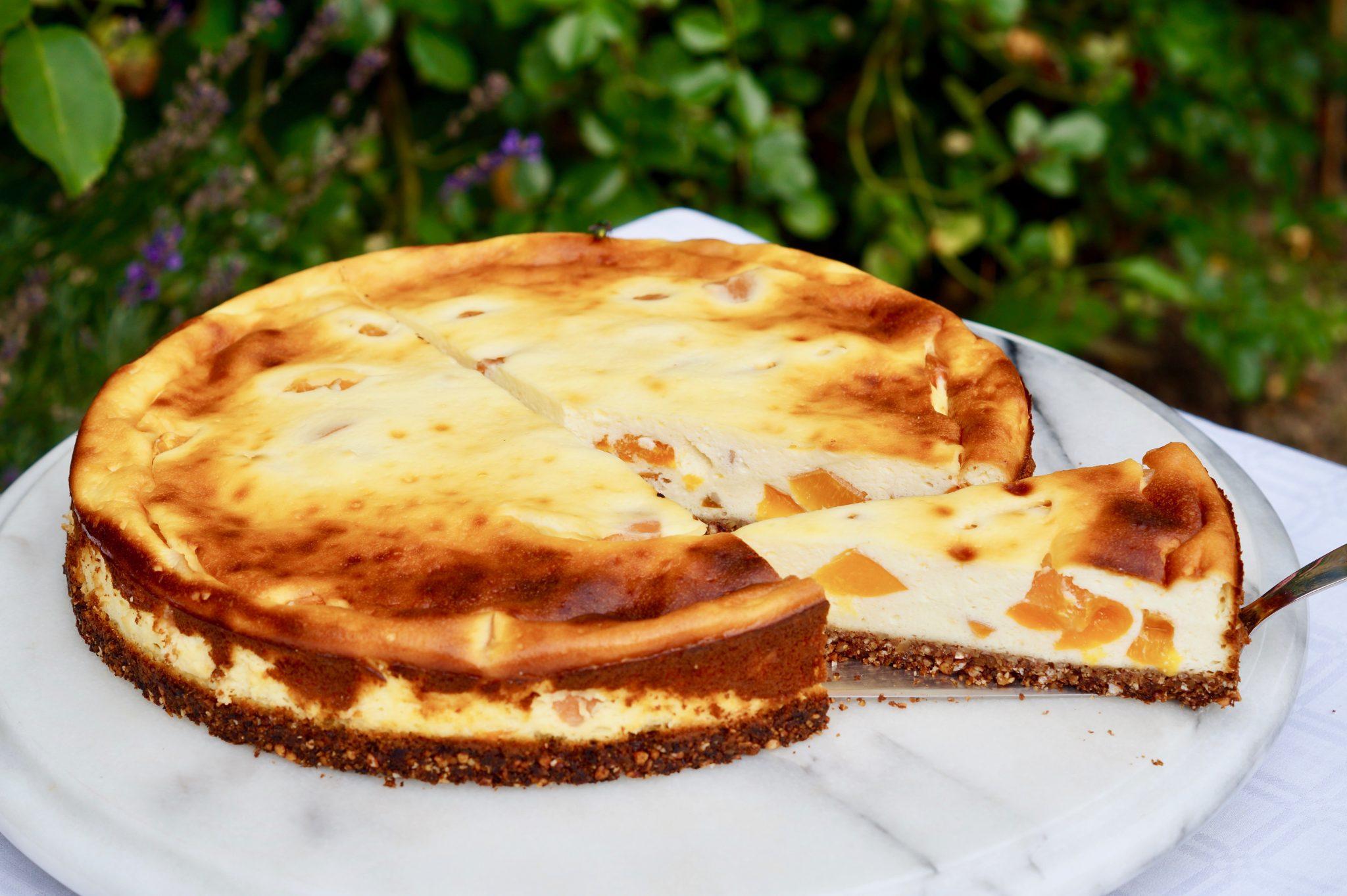 Glutenfreier Aprikosen-Käsekuchen