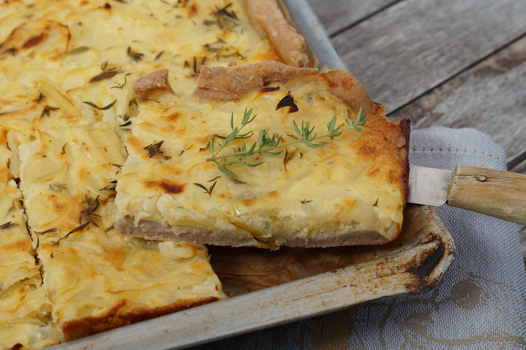 glutenfreier Zwiebelkuchen aus Buchweizenmehl